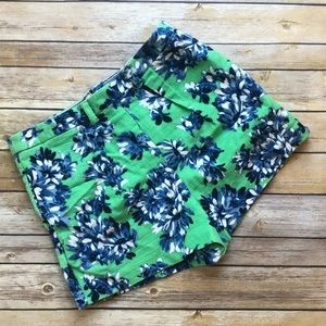 J.Crew Floral Shorts Size 6 Zipper In Back